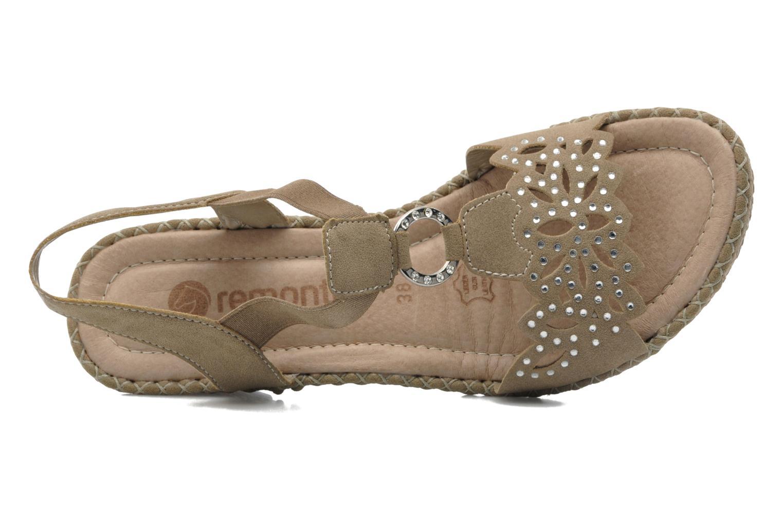Sandales et nu-pieds Remonte Pipo D6756 Beige vue gauche