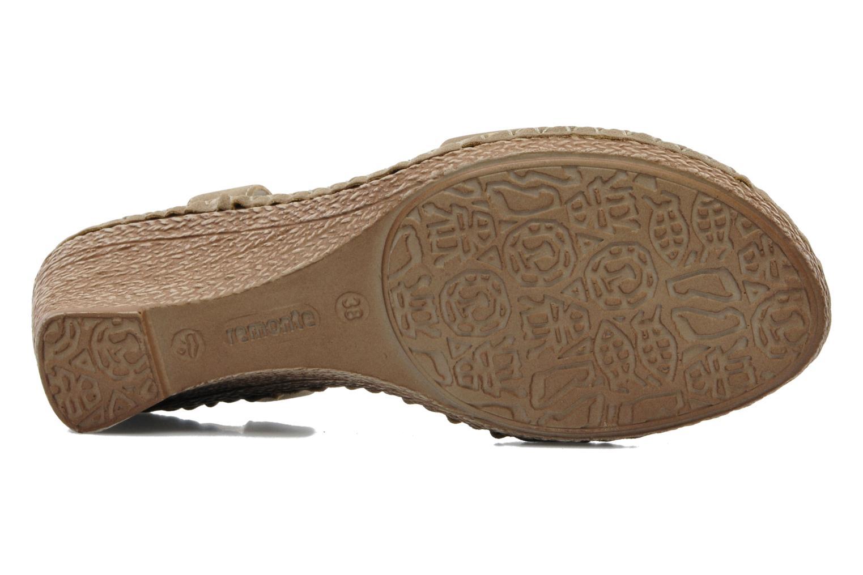 Sandales et nu-pieds Remonte Pipo D6756 Beige vue haut