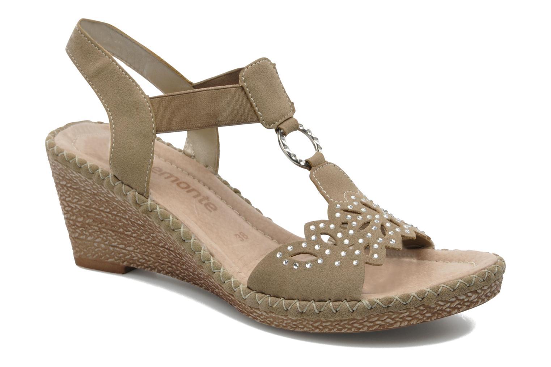 Sandales et nu-pieds Remonte Pipo D6756 Beige vue détail/paire