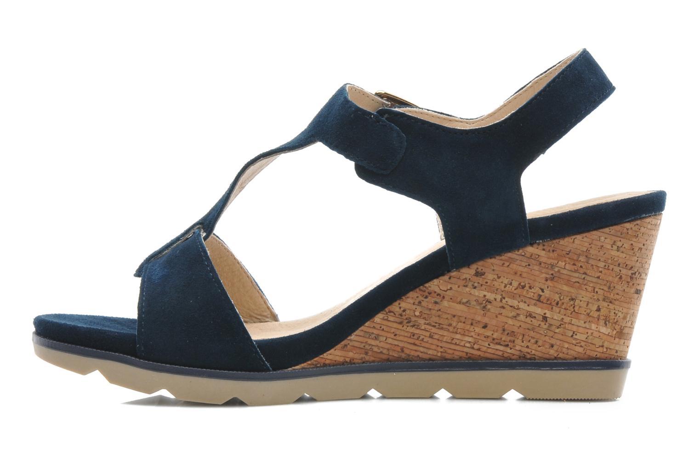 Sandals Lotus Mirror Blue front view