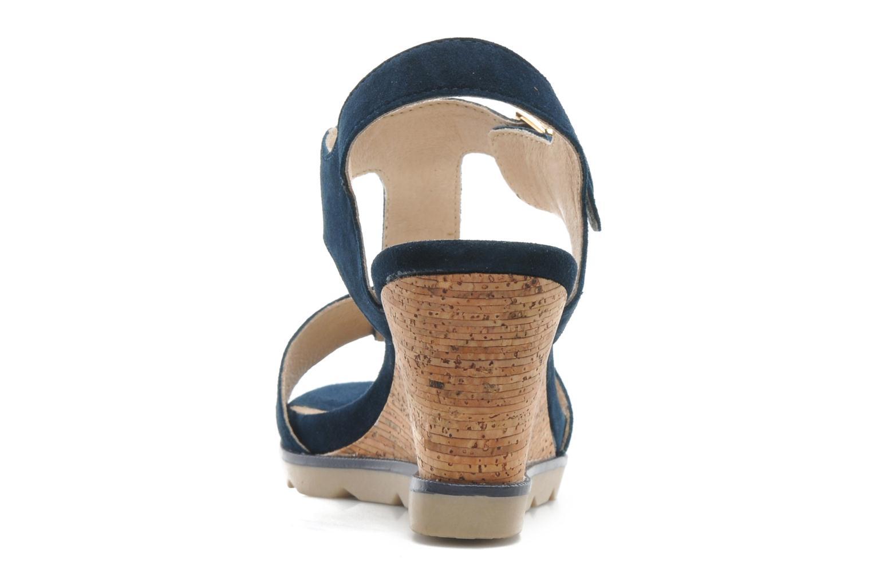 Sandales et nu-pieds Lotus Mirror Bleu vue droite