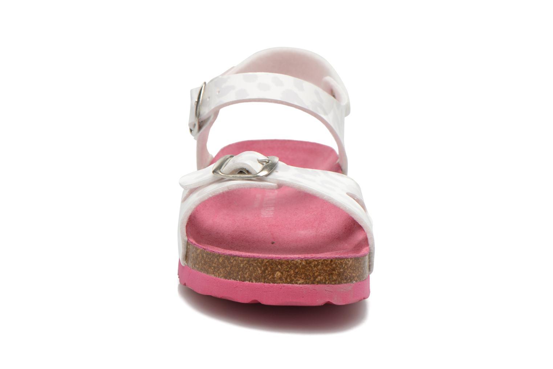 Sandales et nu-pieds Agatha Ruiz de la Prada Dominica Blanc vue portées chaussures