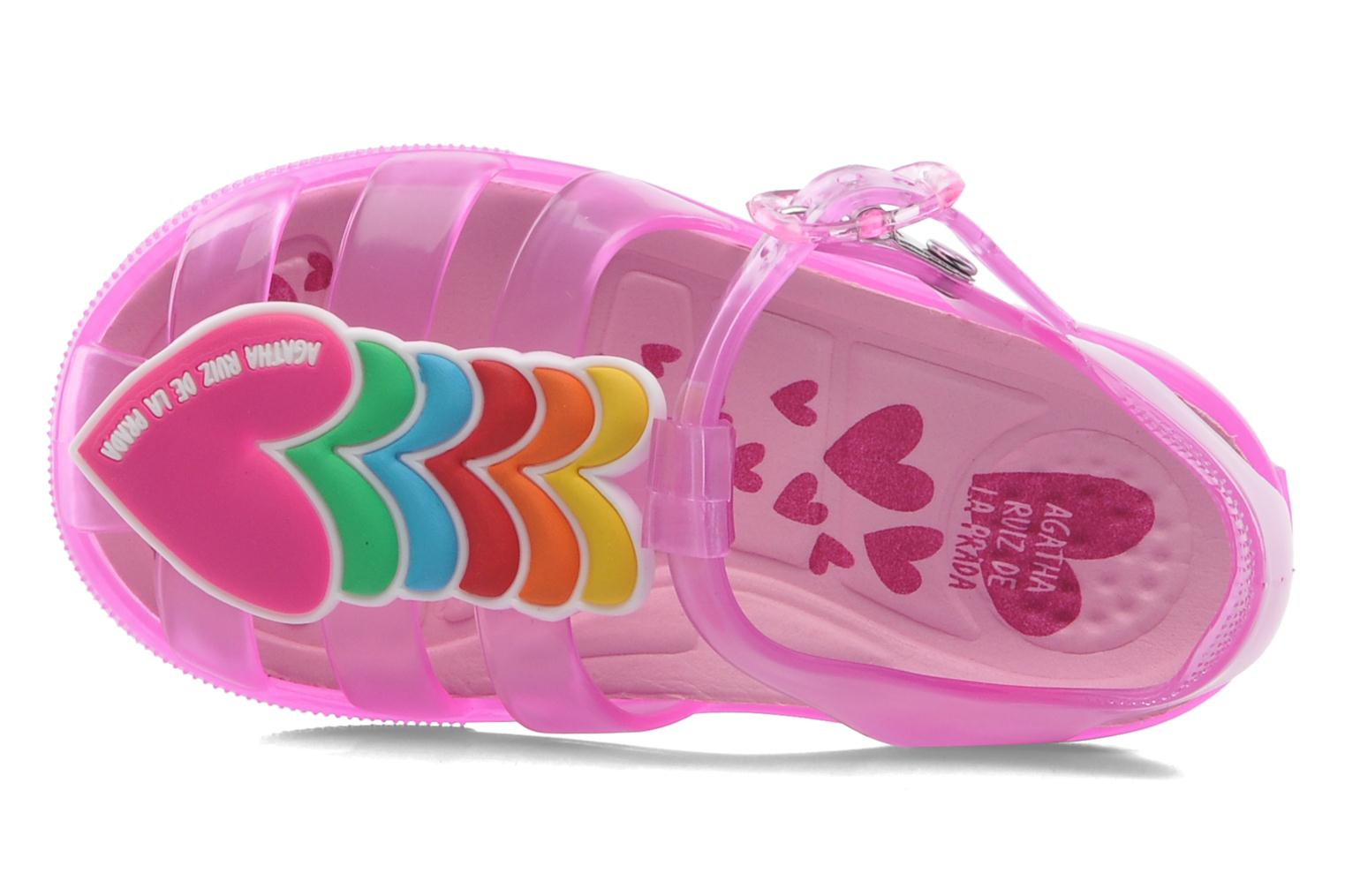 Sandals Agatha Ruiz de la Prada Edilma Pink view from the left