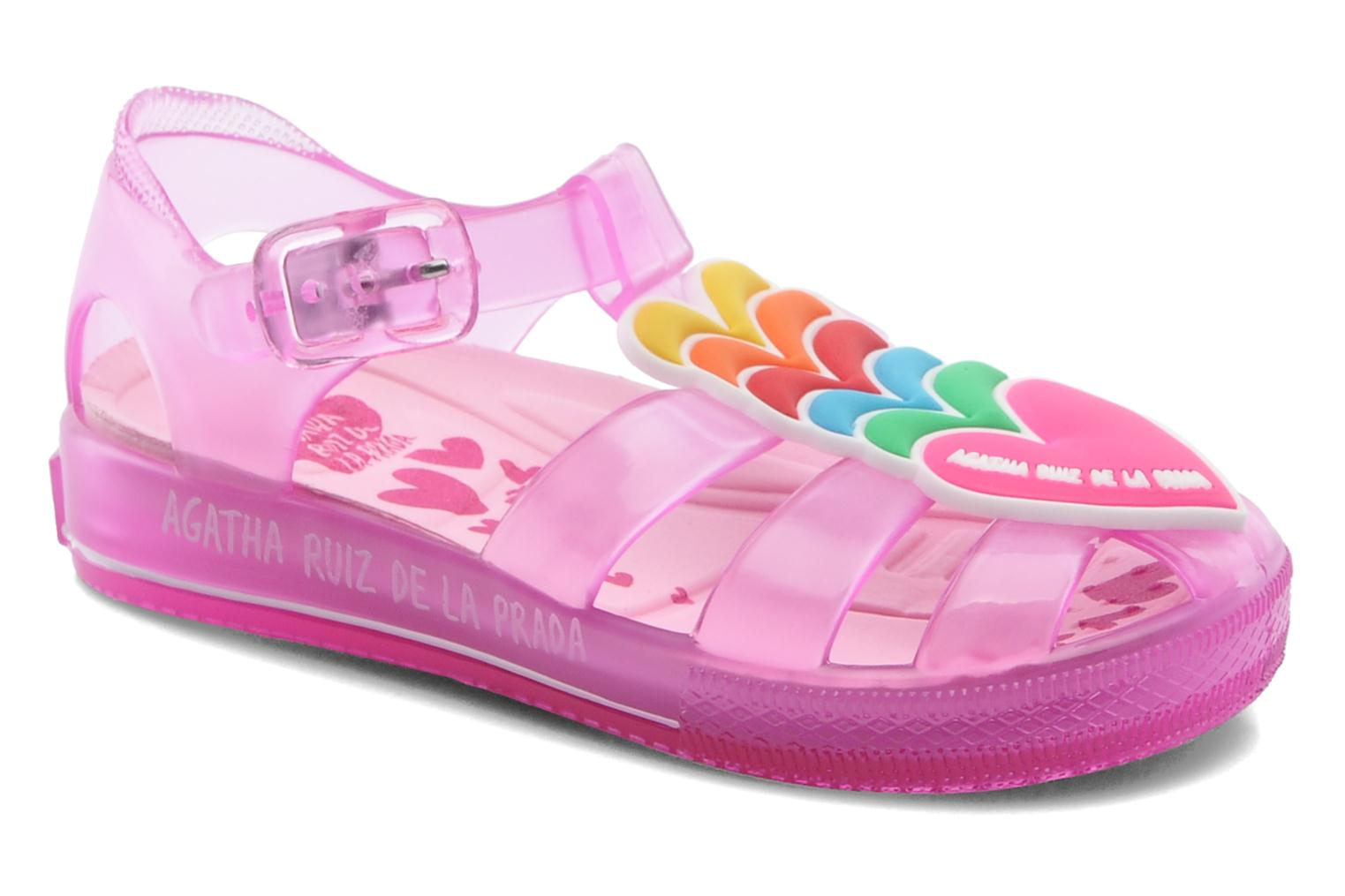 Sandals Agatha Ruiz de la Prada Edilma Pink detailed view/ Pair view