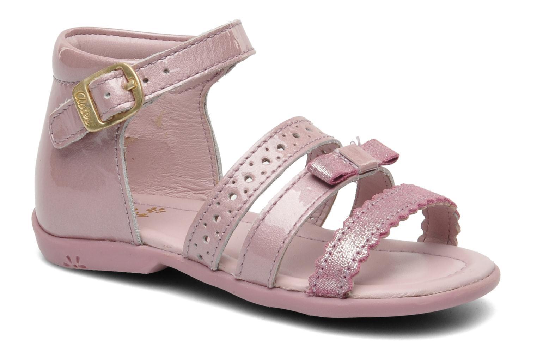 Sandales et nu-pieds Aster LINE Rose vue détail/paire