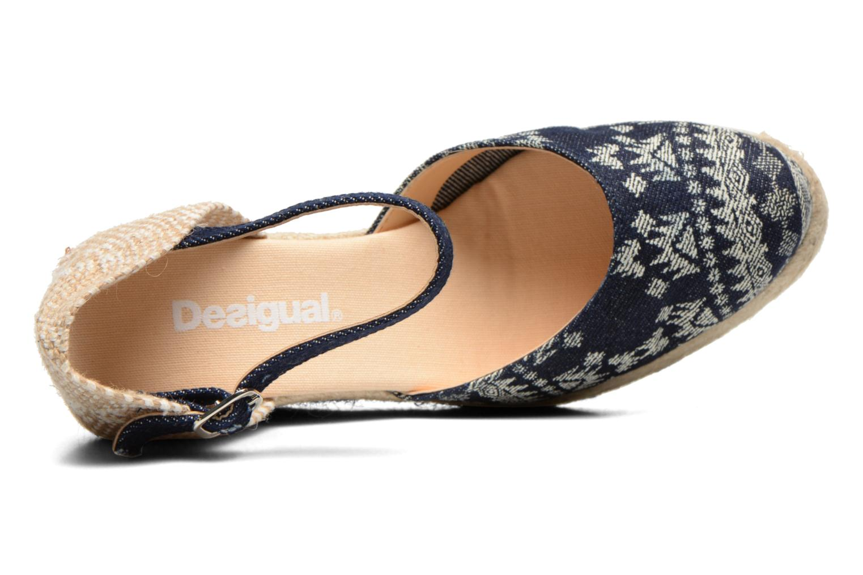 Sandalias Desigual Silla Azul vista lateral izquierda