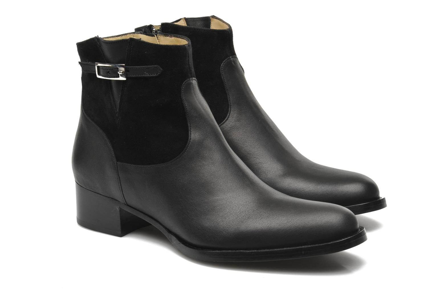Ankle boots Free Lance Legend 4 boot buckle Black 3/4 view