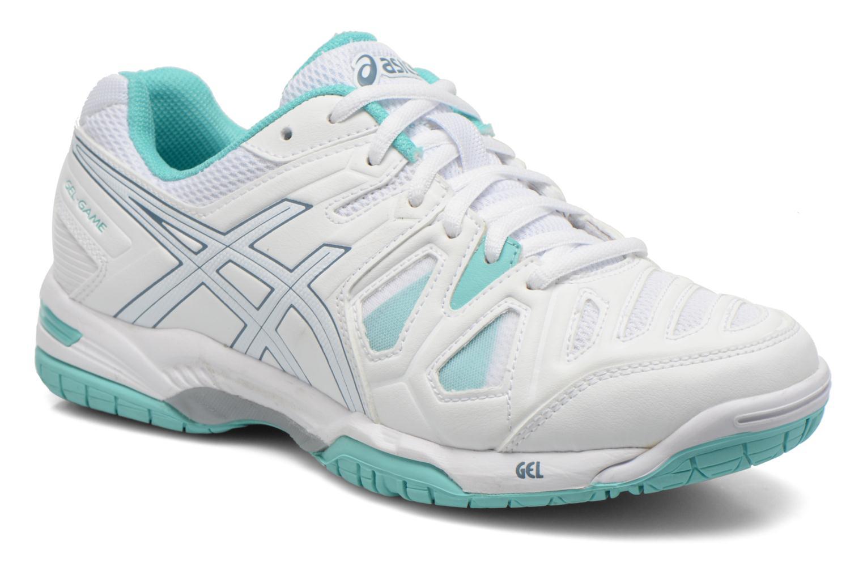 Chaussures de sport Asics Gel-Game 5 W Blanc vue détail/paire