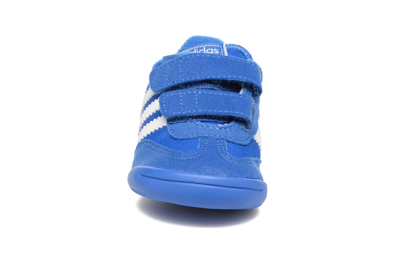 Baskets Adidas Originals Dragon L2W Crib Bleu vue portées chaussures