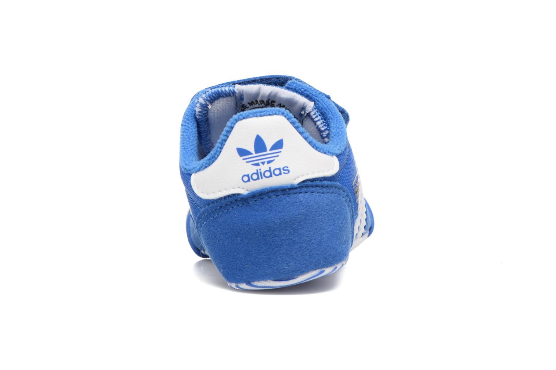 Baskets Adidas Originals Dragon L2W Crib Bleu vue droite