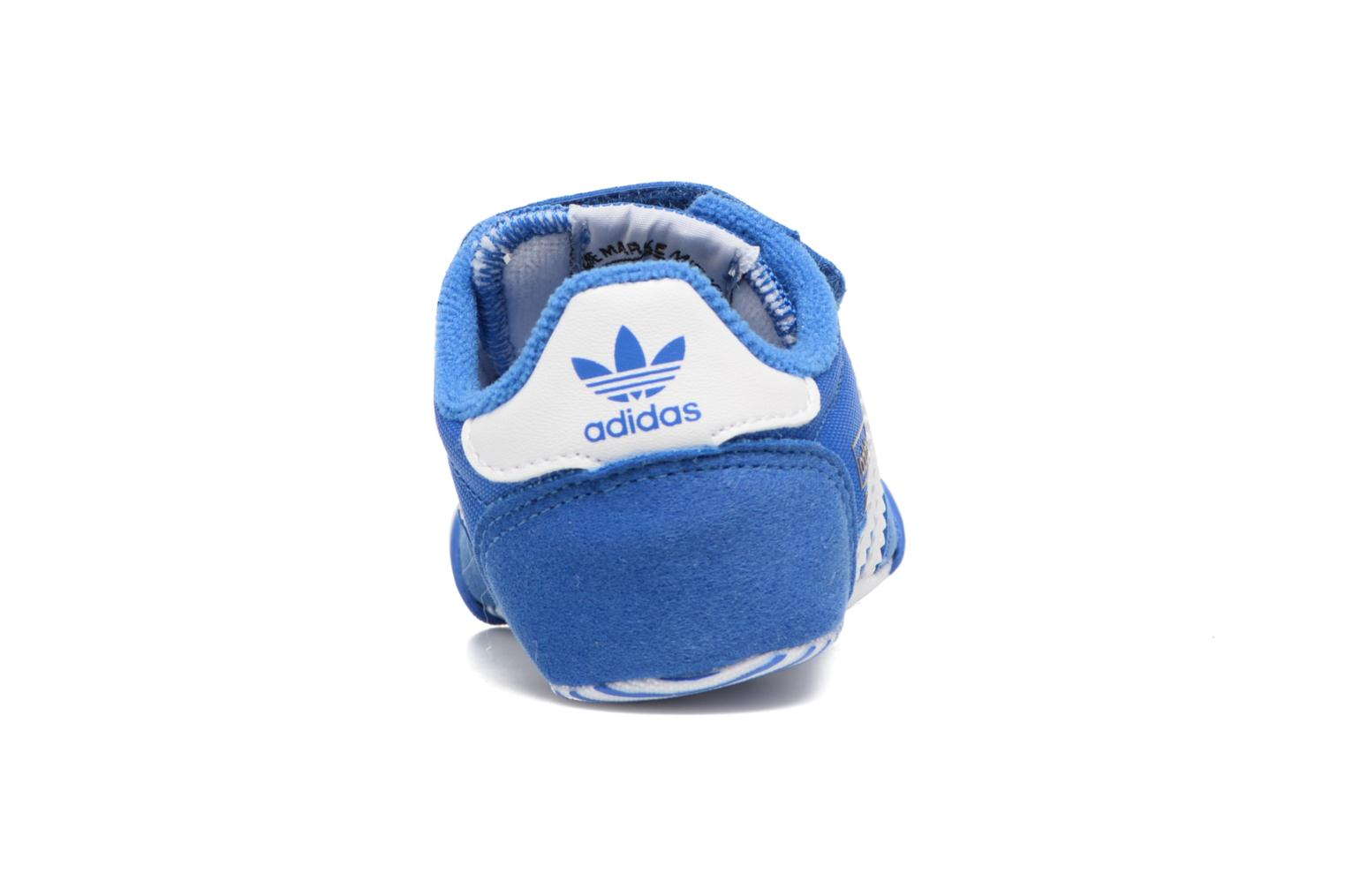 Trainers Adidas Originals Dragon L2W Crib Blue view from the right