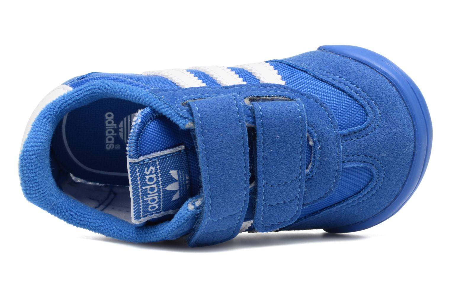 Trainers Adidas Originals Dragon L2W Crib Blue view from the left