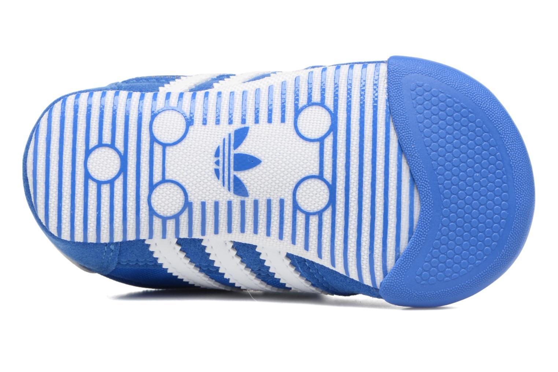 Baskets Adidas Originals Dragon L2W Crib Bleu vue haut