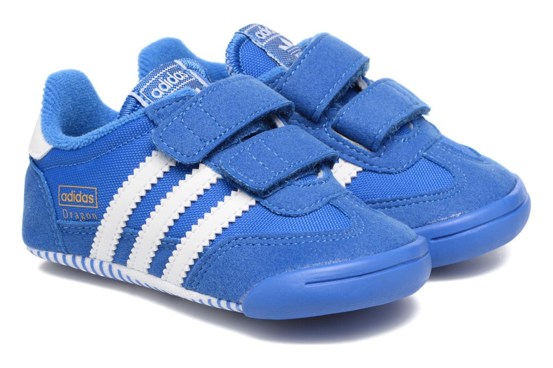 Baskets Adidas Originals Dragon L2W Crib Bleu vue détail/paire