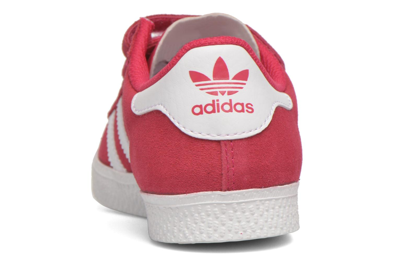Trainers Adidas Originals GAZELLE 2 CF C Pink view from the right