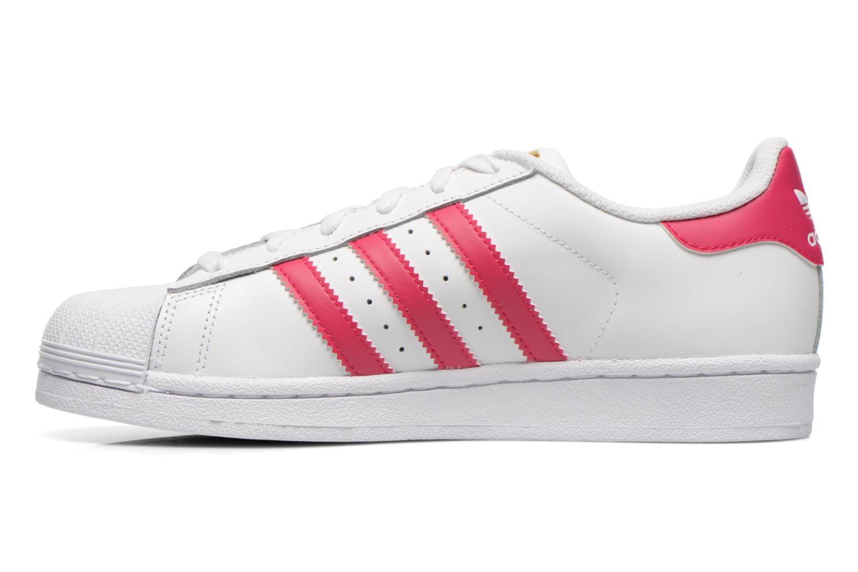 Sneaker Adidas Originals Superstar Foundation J weiß ansicht von vorne