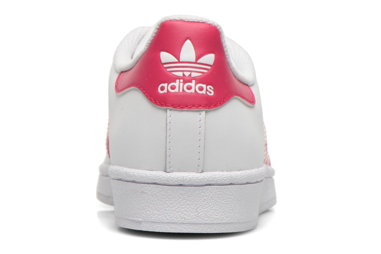 Sneaker Adidas Originals Superstar Foundation J weiß ansicht von rechts