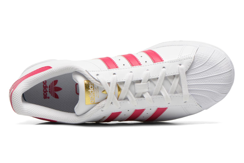 Sneaker Adidas Originals Superstar Foundation J weiß ansicht von links