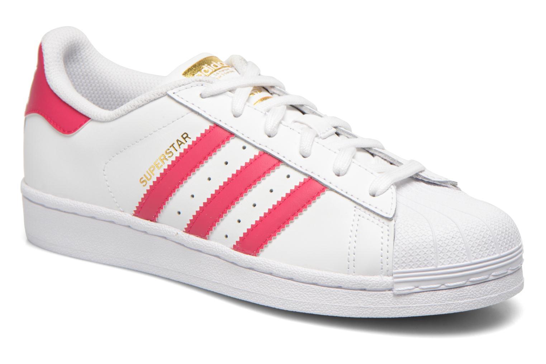 Deportivas Adidas Originals Superstar Foundation J Blanco vista de detalle / par