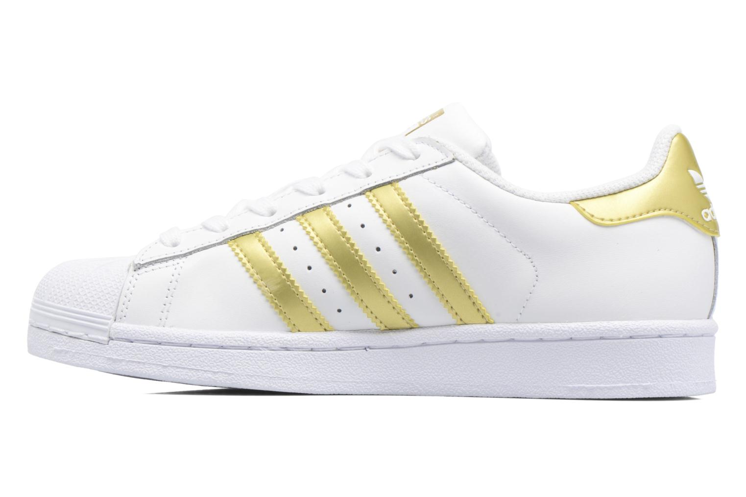 Deportivas Adidas Originals SUPERSTAR J Blanco vista de frente