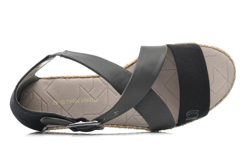 Sandalen G-Star Aria Flat Salon Strap grau ansicht von links