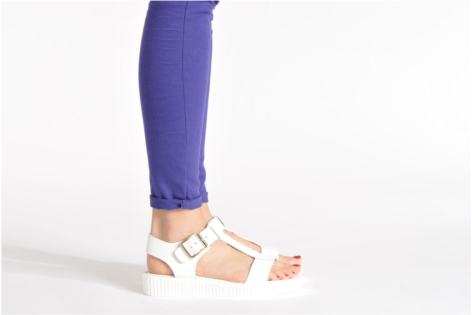 Sandals Divine Factory Adara White view from underneath / model view