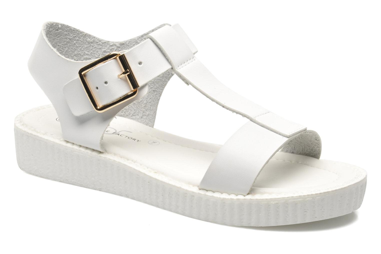 Sandals Divine Factory Adara White detailed view/ Pair view