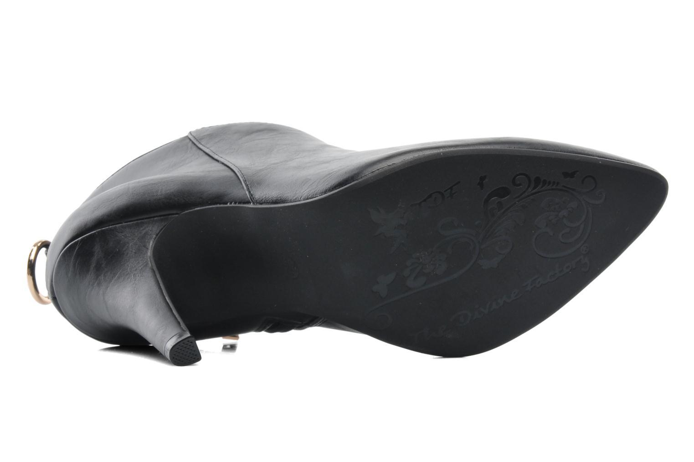 Bottines et boots Divine Factory Algebar Noir vue haut