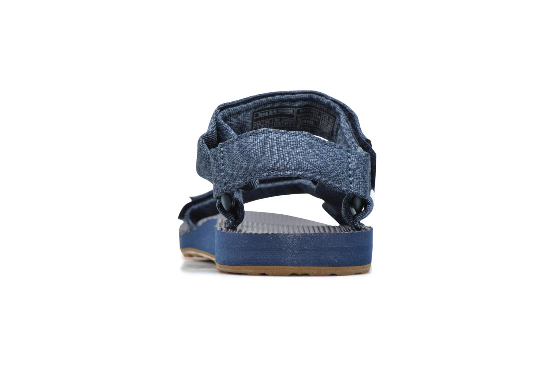 Sandales et nu-pieds Teva Original universal Bleu vue droite