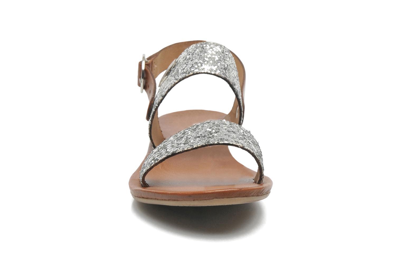 Sandales et nu-pieds Les Tropéziennes par M Belarbi Biniou Argent vue portées chaussures