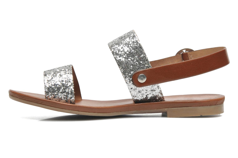 Sandales et nu-pieds Les Tropéziennes par M Belarbi Biniou Argent vue face