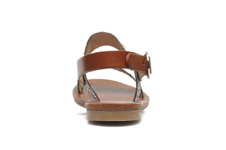 Sandalen Les Tropéziennes par M Belarbi Biniou silber ansicht von rechts