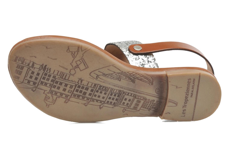 Sandales et nu-pieds Les Tropéziennes par M Belarbi Biniou Argent vue haut