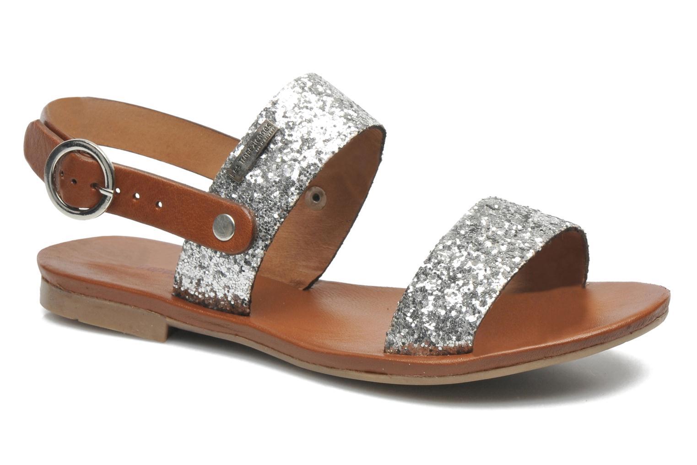 Sandales et nu-pieds Les Tropéziennes par M Belarbi Biniou Argent vue détail/paire