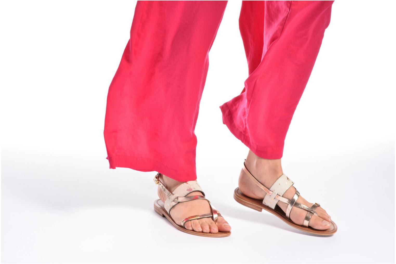 Sandalen Les Tropéziennes par M Belarbi Baule gold/bronze ansicht von unten / tasche getragen