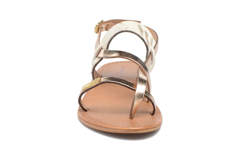Sandali e scarpe aperte Les Tropéziennes par M Belarbi Baule Oro e bronzo modello indossato