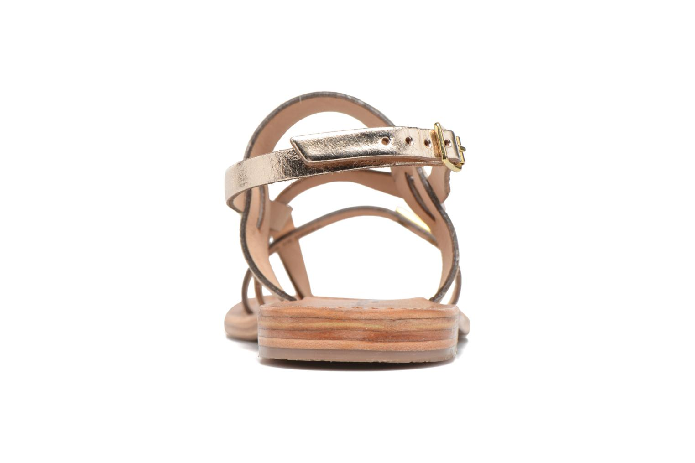 Sandali e scarpe aperte Les Tropéziennes par M Belarbi Baule Oro e bronzo immagine destra