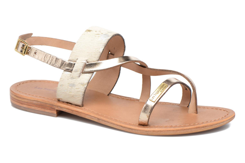 Sandals Les Tropéziennes par M Belarbi Baule Bronze and Gold detailed view/ Pair view