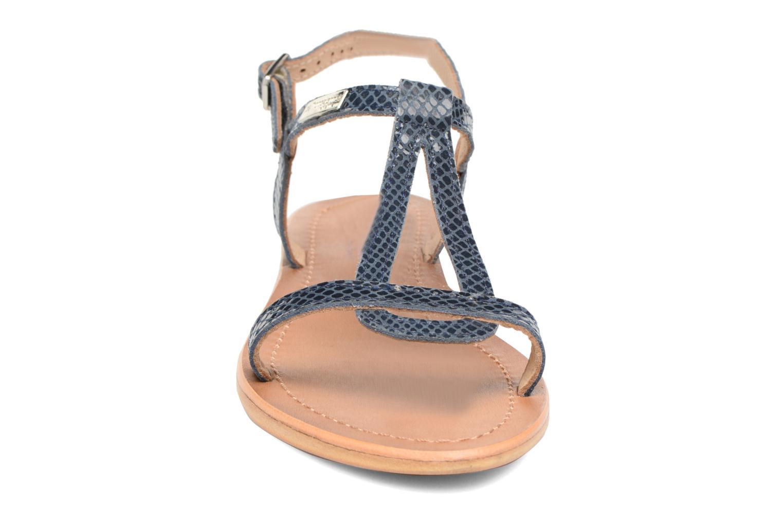 Sandales et nu-pieds Les Tropéziennes par M Belarbi Hamat Bleu vue portées chaussures