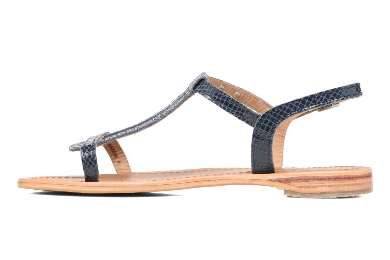 Sandales et nu-pieds Les Tropéziennes par M Belarbi Hamat Bleu vue face