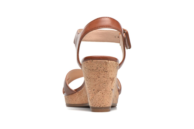 Sandales et nu-pieds JB MARTIN Querida Marron vue droite