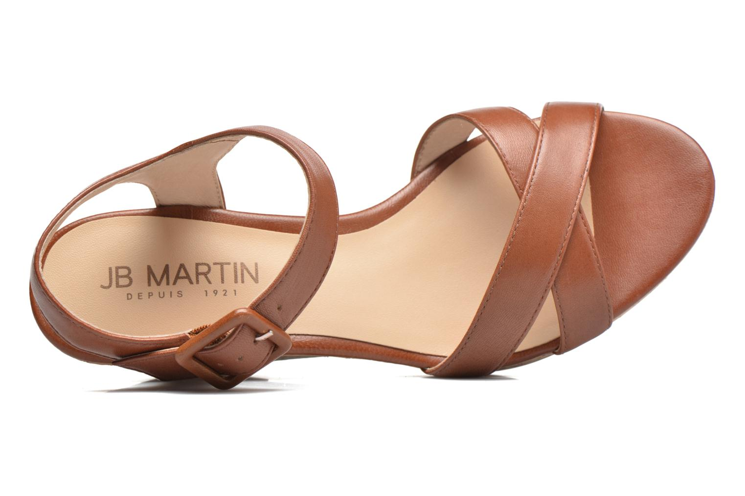 Sandals JB MARTIN Querida Brown view from the left