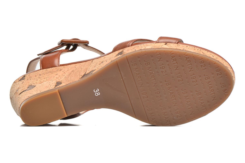 Sandales et nu-pieds JB MARTIN Querida Marron vue haut