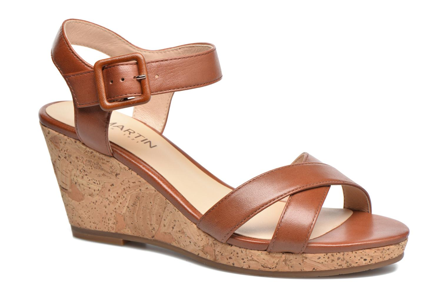 Sandals JB MARTIN Querida Brown detailed view/ Pair view