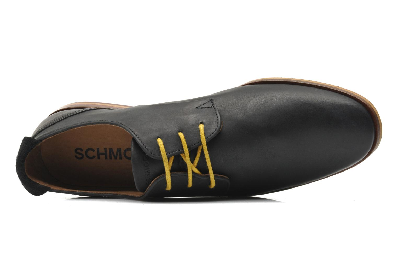 Snörade skor Schmoove Swan derby Svart bild från vänster sidan