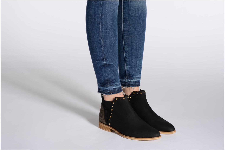 Bottines et boots Schmoove Woman Velours Low Boots Beige vue bas / vue portée sac