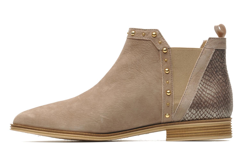Bottines et boots Schmoove Woman Velours Low Boots Beige vue face
