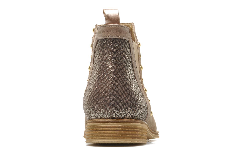 Bottines et boots Schmoove Woman Velours Low Boots Beige vue droite