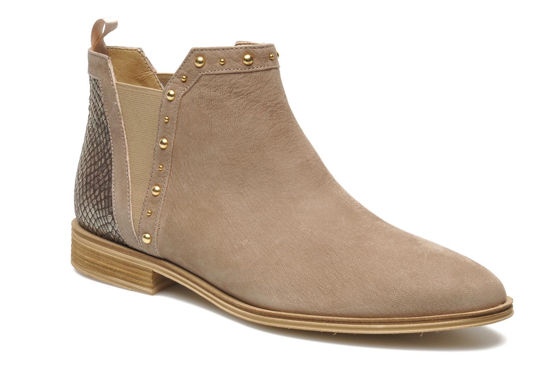 Bottines et boots Schmoove Woman Velours Low Boots Beige vue détail/paire