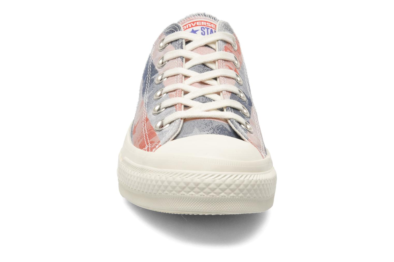 Sneaker Converse Chuck Taylor Bars & Stars Jaquard Ox W mehrfarbig schuhe getragen